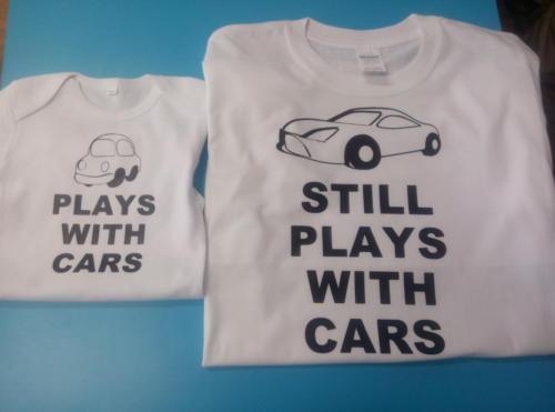 Set tricou tata si copilul - tricouri personalizate