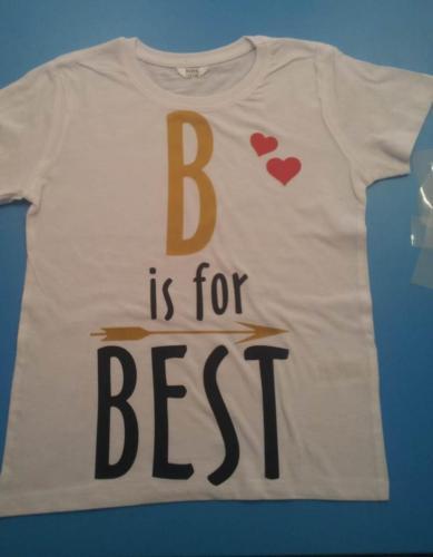 Tricouri personalizate galati - b for best
